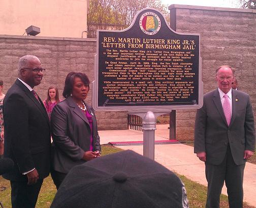 Birmingham Mayor William Bell, Bernice King, Governor Robert Bentley