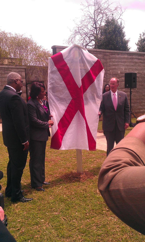 Birmingham Mayor William Bell, Bernice King, Governor Robert Bentley
