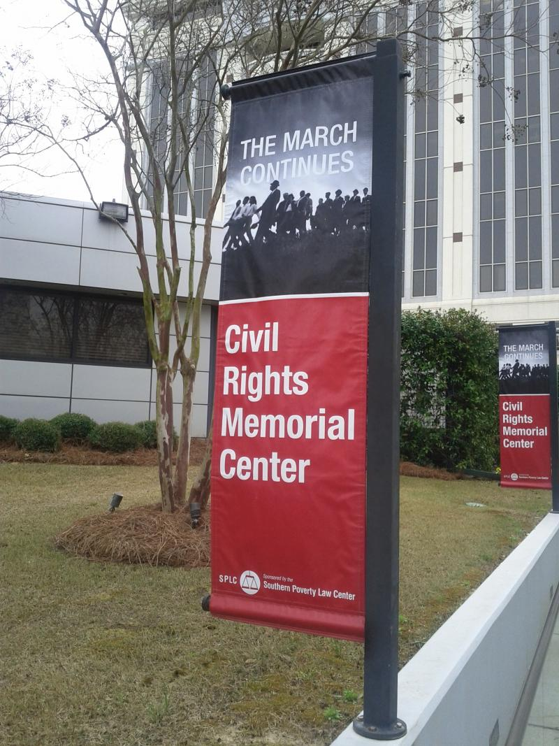 One of the exhibits at the Civil Rights Memorial Center in Montgomery.