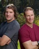 "Bates Battaglia, left, and Anthony Battaglia have claimed the $1 million price of ""The Amazing Race."""