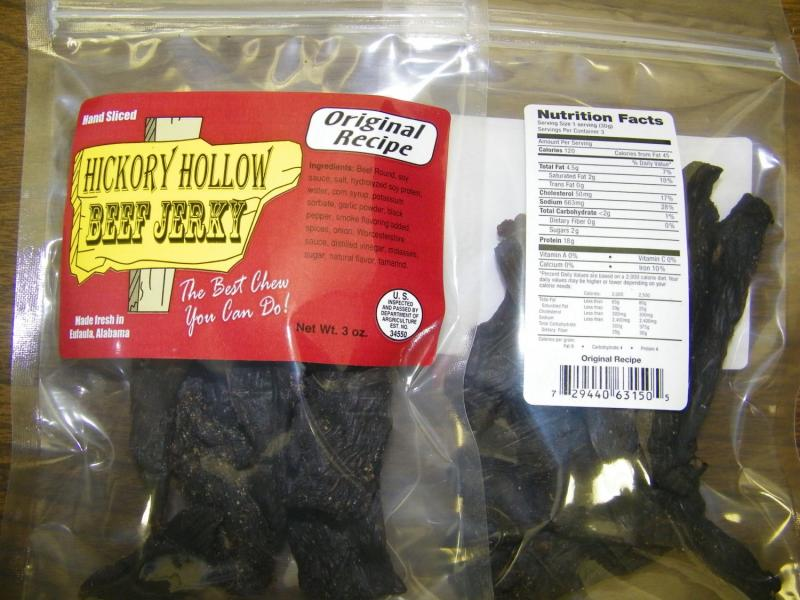 Alabama-based Hickory Hollow Jerky issued a recall for about 1,800 pounds of beef jerky.