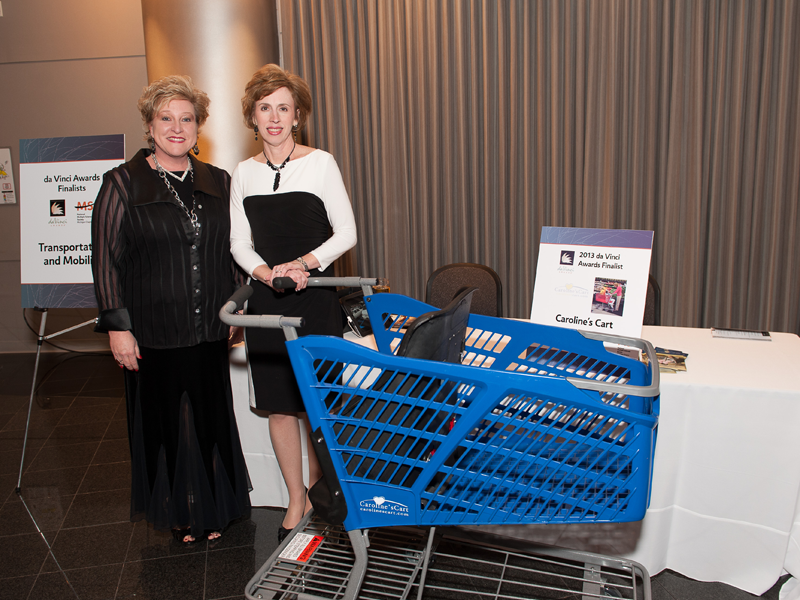 Caroline's cart won a 2013 DaVinci Award and now partnered with Technibilt should be available in grocery stores nationwide by the end of July or early August.