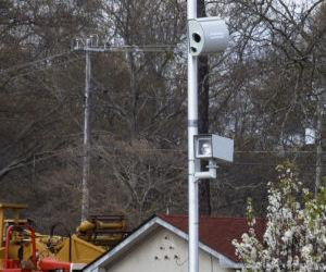 A traffic camera is seen at the intersection of Highway 280 and Pepperell Parkway on Tuesday in Opelika.