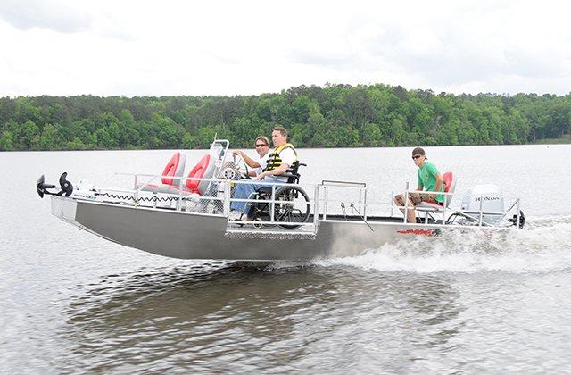 The Warrior is a boat at Fort Rucker customized to fit the needs of physically disabled people.