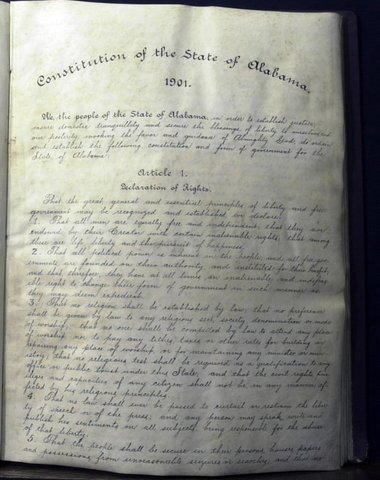 "Alabama's 1901 constitution still includes language madating separate schools for ""white and colored children."""