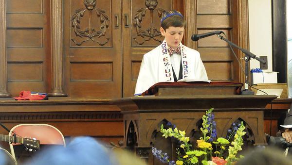 Elijah Schulman was called to the Torah on August 3, 2013 at Temple Mishkan Israel in Selma, Alabama.