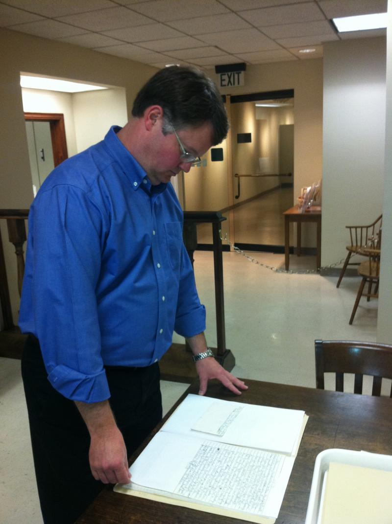 Archivist Jim Baggett has been studying Robert Chambliss' prison letters at the Birmingham Public Library.