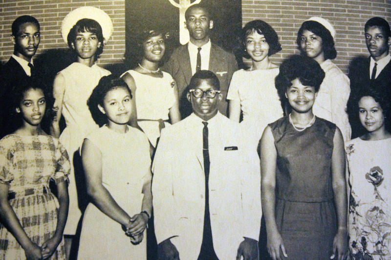 The original 13 black students who integrated Tuskegee High School on September 2, 1963.