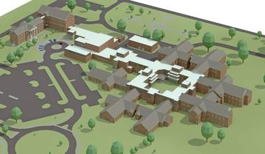 A sketch of the state's new $75 million mental health hospital scheduled to open in December