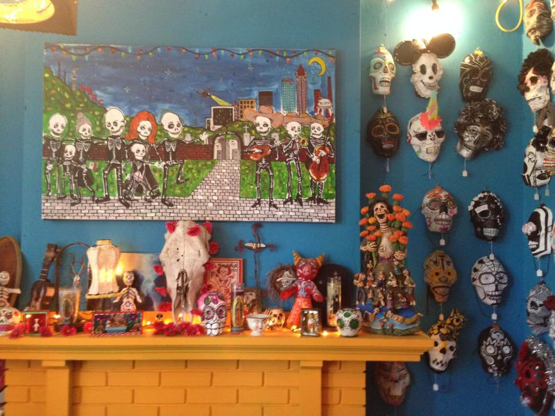 "Some of the ""sugar masks"" that will be on display and for sale at Birmingham's Dia de los Muertos Festival."