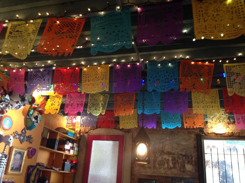 Inside La Casita, Birmingham's Day of the Dead headquarters.