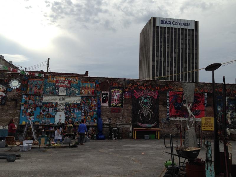 Some of the altars set up for Birmingham's Dia de los Muertos Festival.