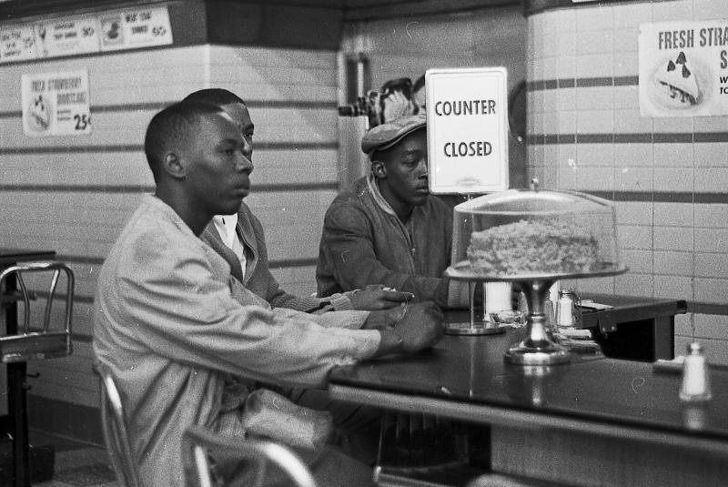 "Lunch counter ""sit in"" which preceded the ""children's march"" in Birmingham"