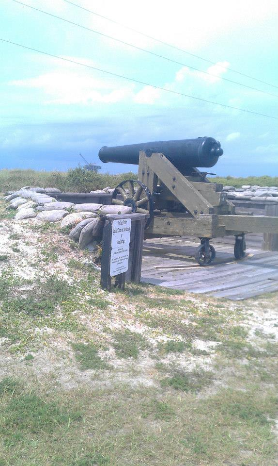 Sea battery at Fort Morgan