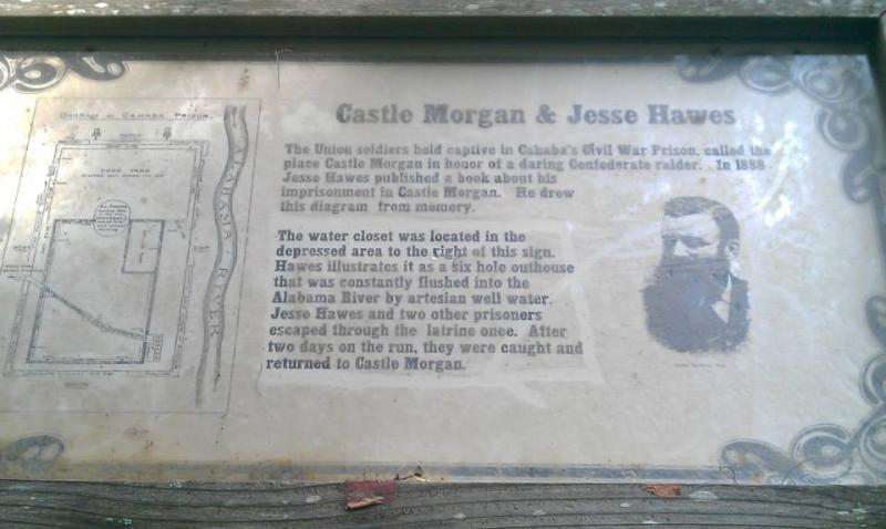 Sign at Castle Morgan