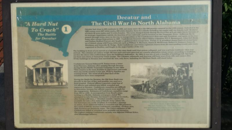 Part of the Civil War walking tour in Decatur.