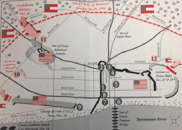 A layout of what occured during the Battle of Decatur from Oct. 26-29.
