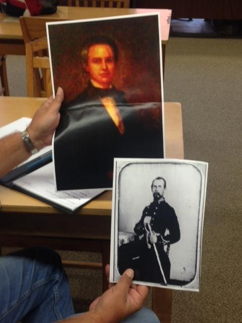 Dr. William Sykes is the top photo and his brother Colonel Columbus Sykes is the lower photo.