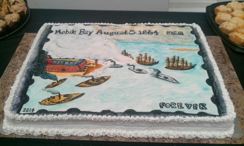 Cake at the unveiling ceremony depicting the stamp