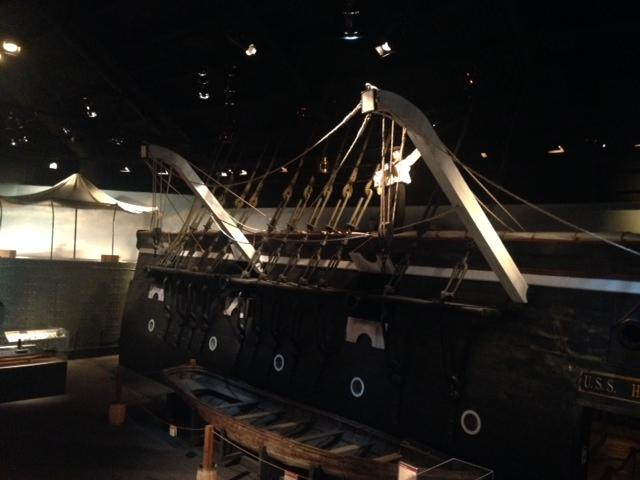 Another shot of a replica of the U.S.S. Hartford.