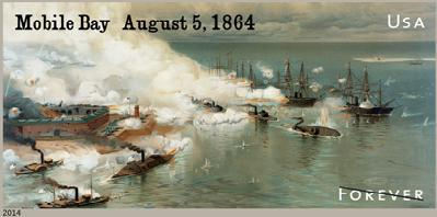 New Forever Stamp Commemorating the Battle of Mobile Bay