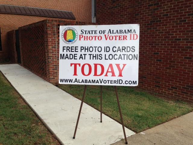 The mobile ID units have made over 100 stops. This was at a church in Montgomery on October 8.