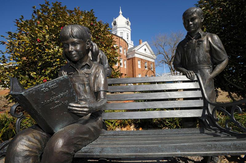 Monroeville Mockingbird statue