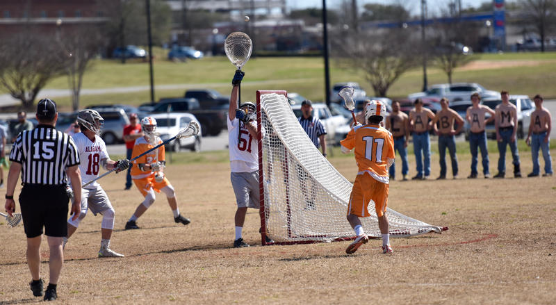 Parker Jacobs goaltending for Alabama Club Lacrosse