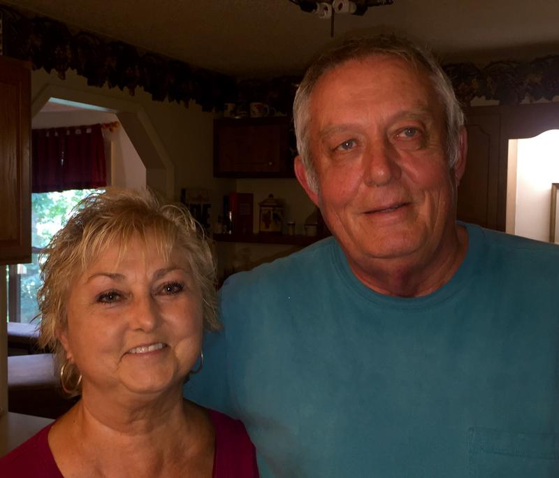Randall Padgett and his wife Brenda