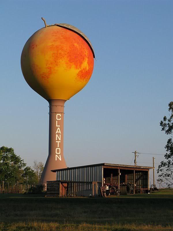 Clanton peach water tower