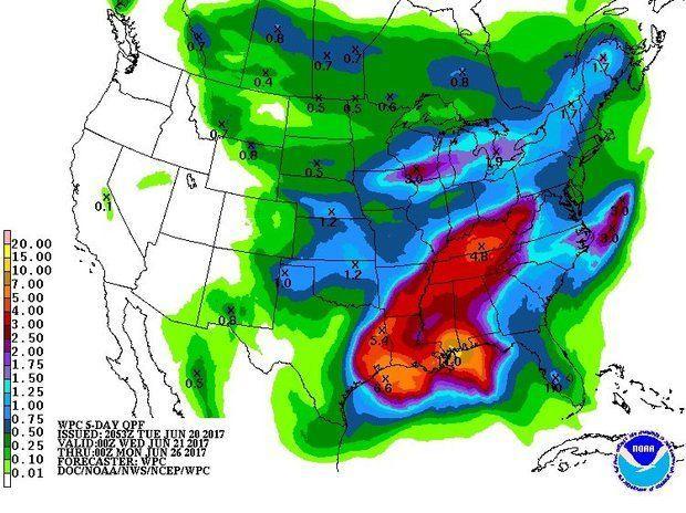 5-day rainfall