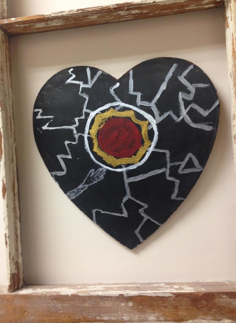 First Heart painted by a survivor at the SANE Center in Birmingham