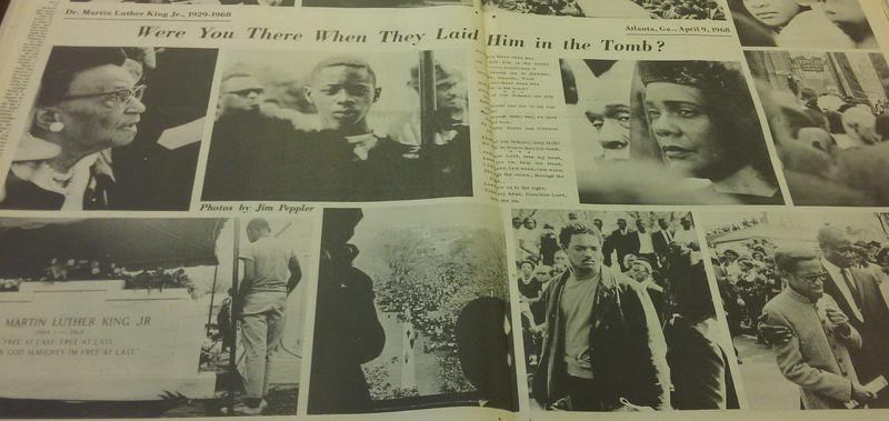 Photo Spread in the Southern Courier on MLK Jr.'s Funeral