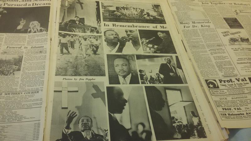 Southern Courier Photo Tribute to Dr. King after his assassination