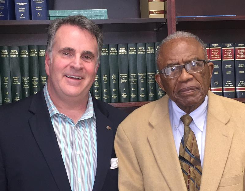 APR news director Pat Duggins and civil rights attorney Fred Gray