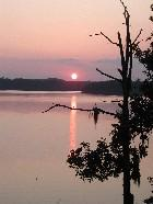 The sun sets over Lake Eufaula, one of the largest bodies of water on the ACF river basin.