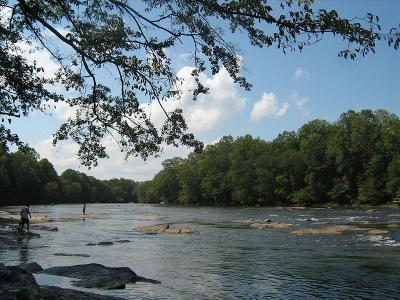 The Chattahoochee River and it's connection to Lake Lanier is a major part of the Tri State Water Dispute.