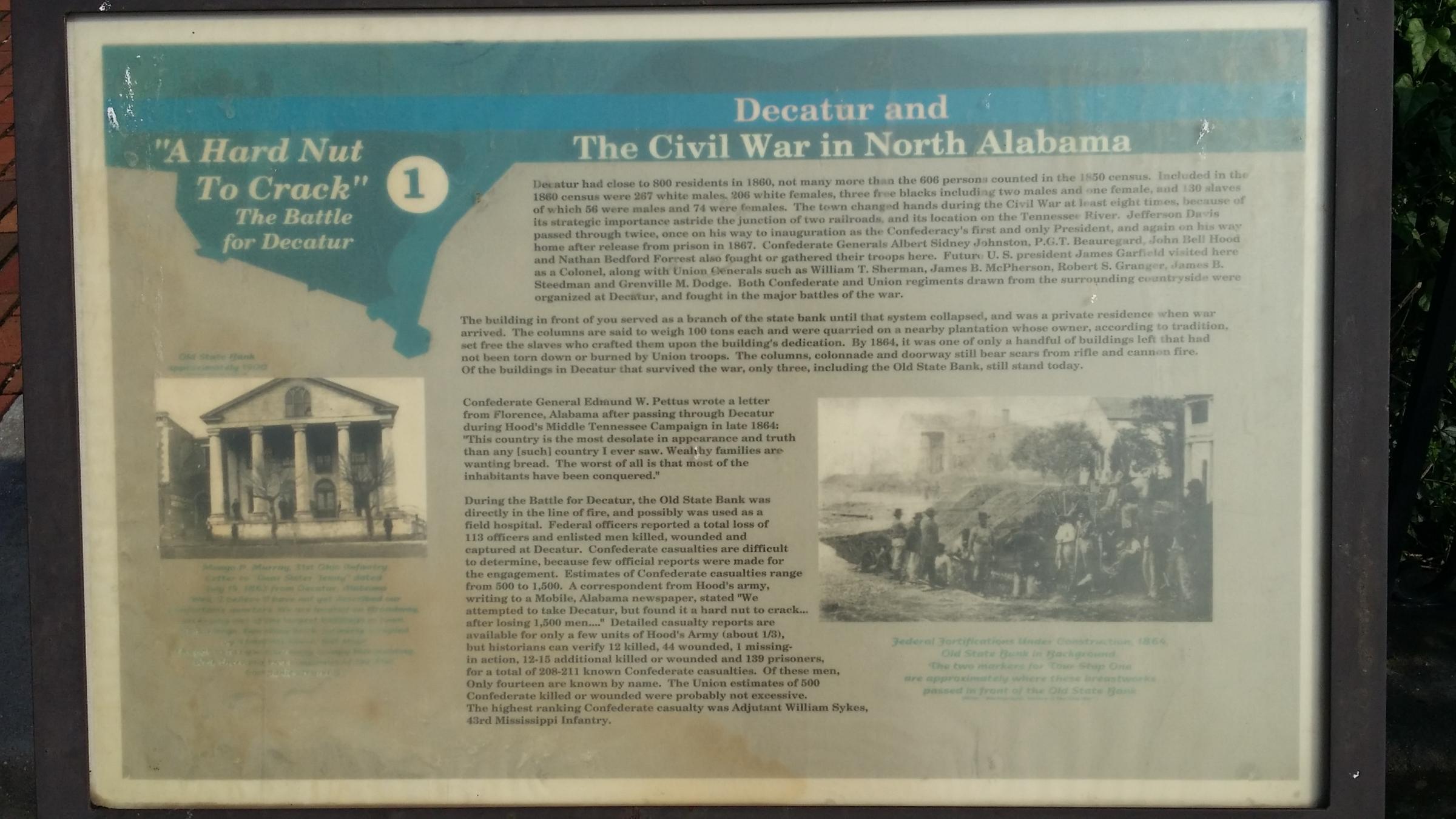Decatur Civil War Walking Tour