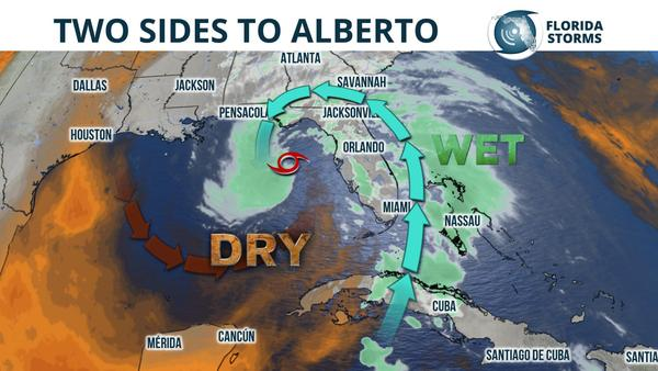 Subtropical Storm Alberto spins more rain into Florida