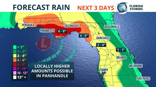 Heavy Rain Possible Flooding This Weekend In Panhandle Wjct News