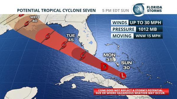 Tropical development likely near south florida monday wusf news publicscrutiny Gallery