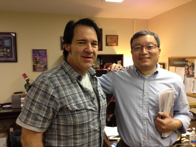 Chris with legendary UGA Researcher Dr. Biao He