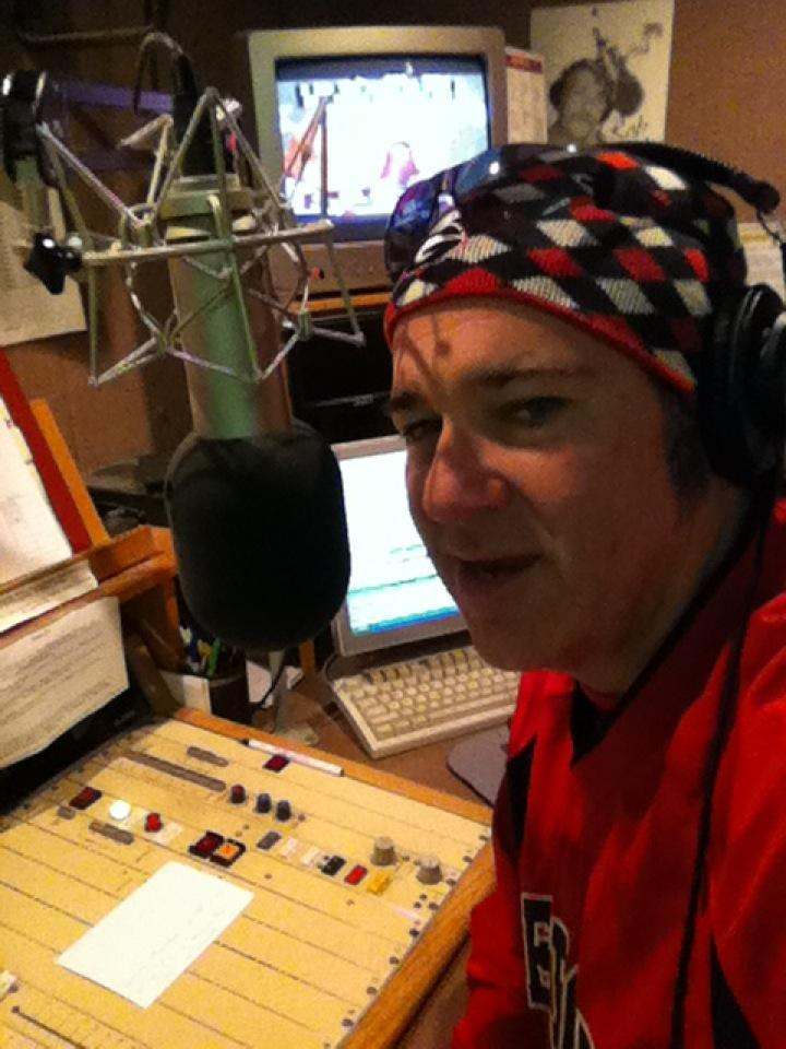 Chris Shupe on-air in the early days, circa 2010