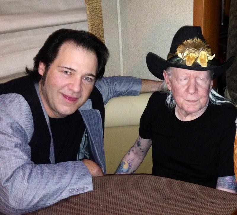 Chris Shupe with Blues/Rock legend Johnny Winter