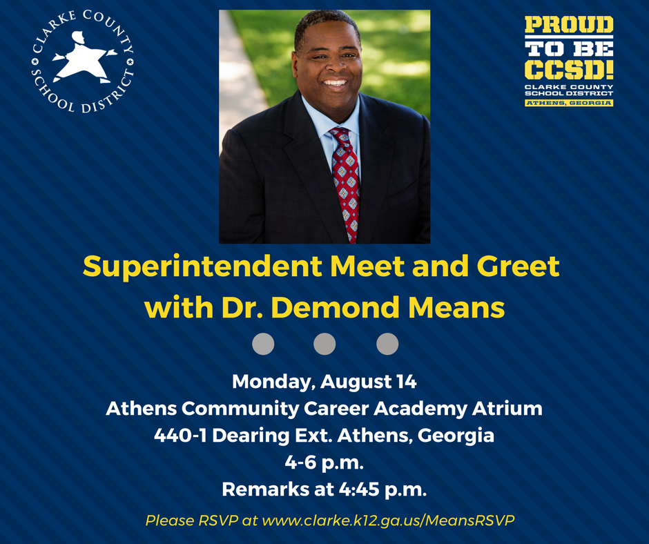 Meet and greet planned for clarke superintendent wuga university meet and greet planned for clarke superintendent m4hsunfo