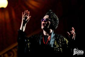 Cynda Wrightsman in her role as Norma Desmond