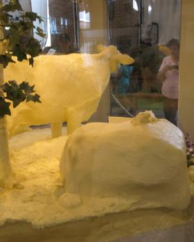The 2013 Illinois State Fair Butter Cow