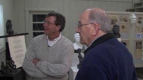 Mark McDonald interviews Lincoln sculptor John McClarey in Decatur.