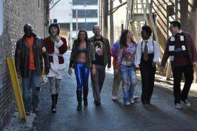 RENT cast members take a stroll through downtown Springfield in this Muni publicity pic