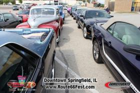 Cars line up during last year's festival